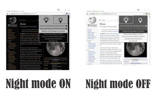 Dark mode vs. regular mode.