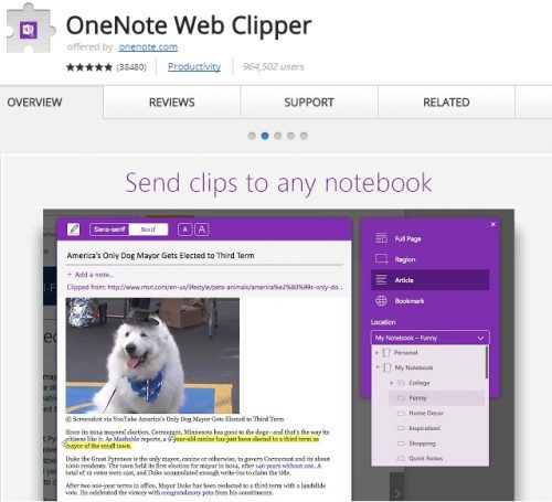 Evernote free alternative is OneNote.