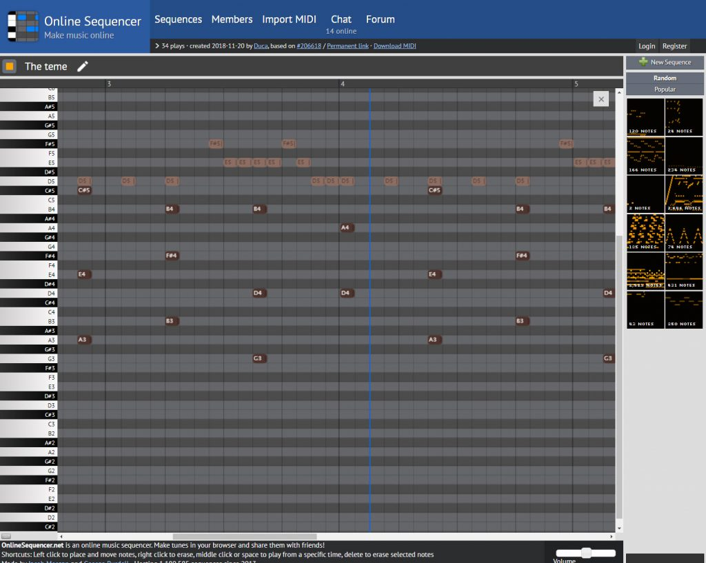 Online Sequencer.
