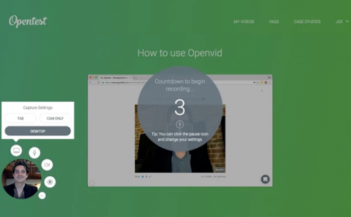 Opentest is another screen recorder that's completely free to use compared to Screencastify.