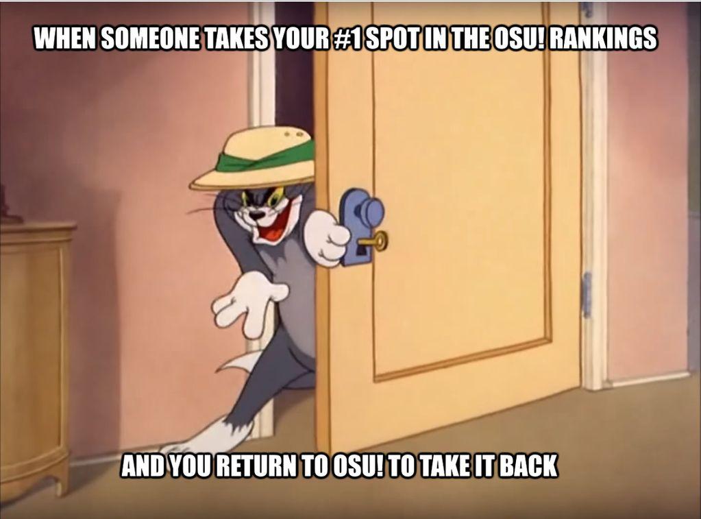 Osu Tom and Jerry meme.