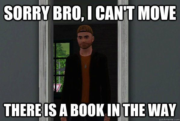 Sims 4 meme Scumbag Steve.