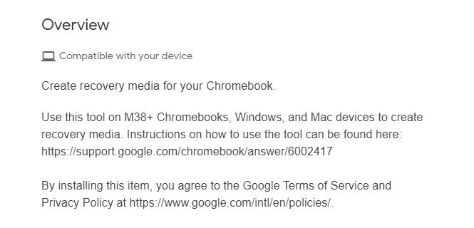 Recover your Chromebook with the Chromebook Recovery Utility.