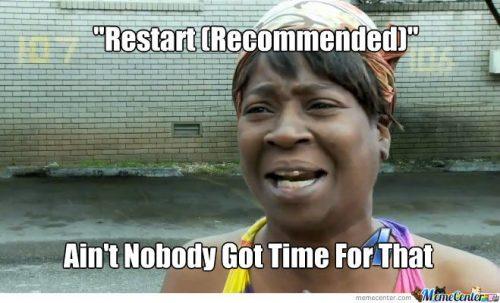 Restart Chromebook to keep it running fast.