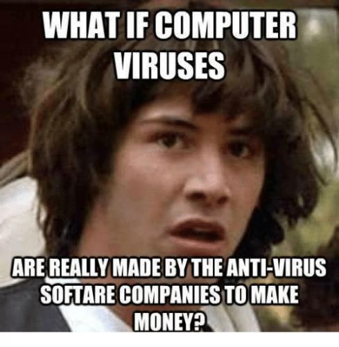 Computer viruses - Keanu meme.