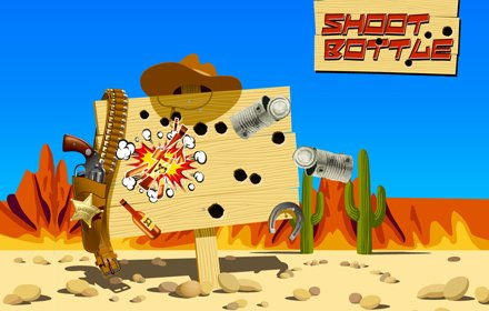 Shoot Bottle is a simple flash FPS browser shooter.