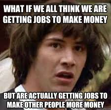 Keanu Reeves making money meme.