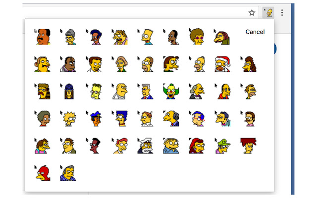 Simpsons cursors for Chrome.