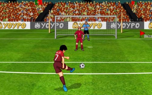 Free Kick is a soccer game for Chromebooks.