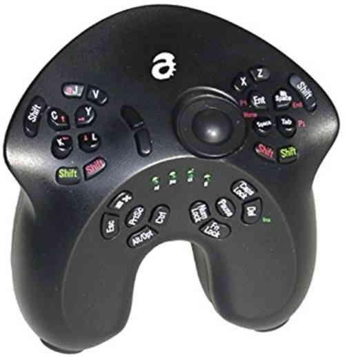 A very weird controller that has a lot of buttons.