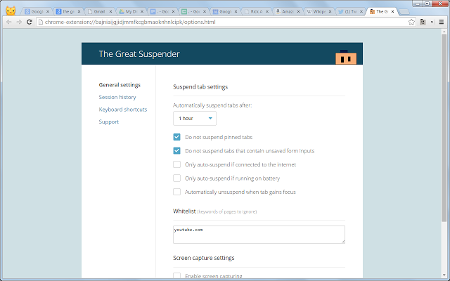 The Great Suspender speeds up Chrome.