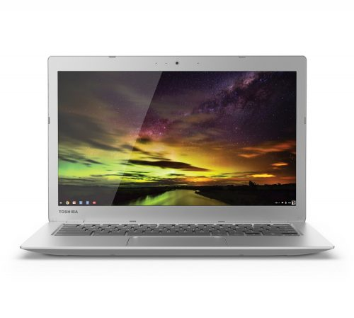The Toshiba Chromebook is a light laptop.