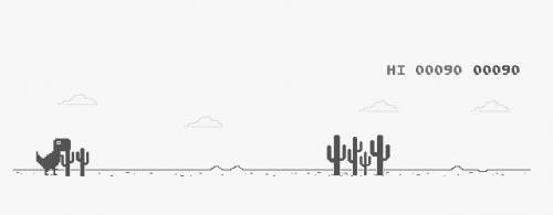 Play the hidden Chrome dinosaur game on Chrome OS. Get a high score.
