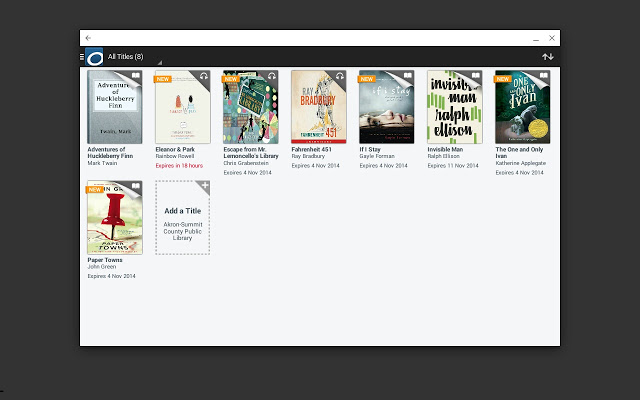 Overdrive is an audio/ebook media platform- probably the best Chromebook ebook app.