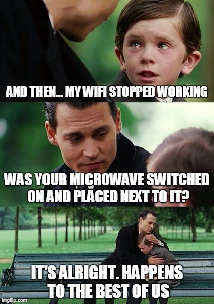 Disconnecting from WiFi meme on Chromebook.