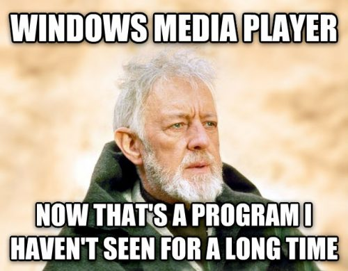 Windows Media Player on a Chromebook meme.