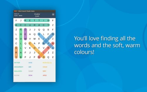 Word search games for Chromebooks that work offline.